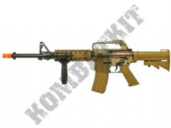 DPMS A11 RIS M4 Combat Rifle Airsoft BB Gun Smoked and Tan